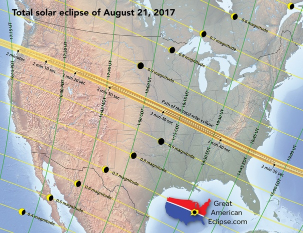 GA Eclipse map