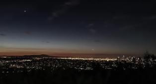 Dawn. Venus is the bright star above.