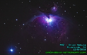 M42 - Orion Nebula from city