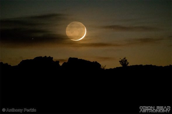 Moonset over Mojave Desert