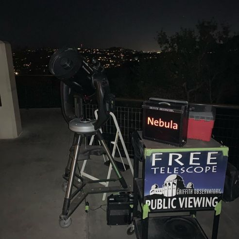 On this particular night, with low 40 temperatures and wind chill, visitors were going out of their way NOT to stop and check out our telescopes because they didn't want to stand out in the cold.